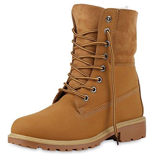 SCARPE VITA Warm Gefütterte Damen Boots Outdoor Stiefel Stiefeletten 165406 Hellbraun 37