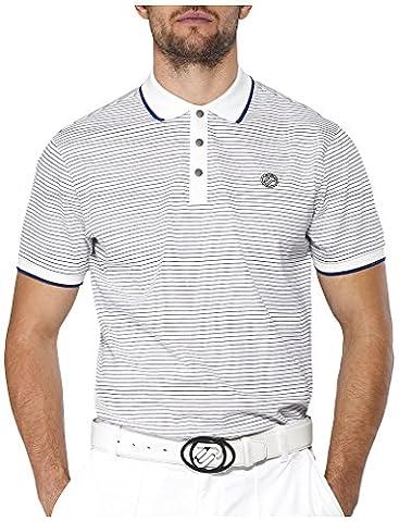 IJP design fine t-shirt de golf pour homme XS Blanc - Blanc