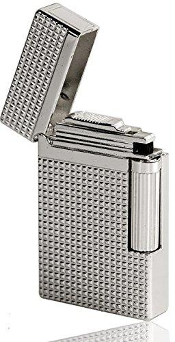 Nick and Ben Edles Luxus Feuerzeug in Platin Silver Look