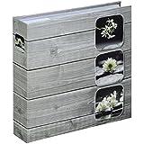 Hama Fino 00001841 - Álbum de foto (protector, 22.5 x 22.5 cm, para 200 fotografías de 10 x 15 cm), color gris
