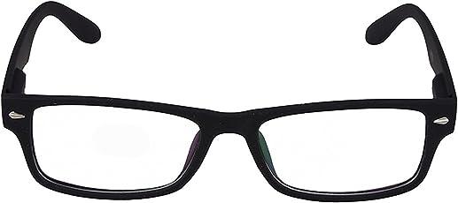Xforia Transparent Rectangle Premium Quality Sunglasses (Frame_Plain Goggles white)