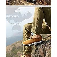 ERR Zapatos de Senderismo/Zapatos Deportivos Ocasionales de Gran tamaño al Aire Libre de los Hombres/Zapatos Corrientes de los Hombres,Gris,43