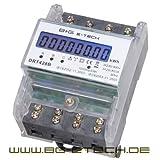 B+G E-Tech DRT428B digitaler Stromzähler Drehstromzähler für DIN Hutschiene , Energiemessgerät 400V 20(80)A mit S0 Schnittstelle -