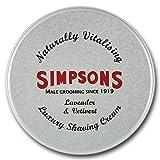 Simpsons Luxe Rasage Crème Lavande Et Vétiver 125 ml Conserve