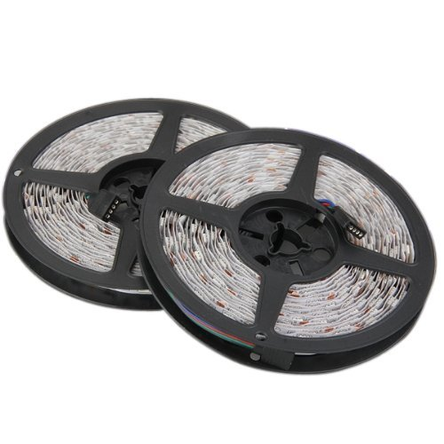 TOOGOO (R) 2 x 5M 10M 5050 tira flexible de SMD LED RGB 600 Light Car Auto DC 12V