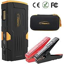 Arrancador de Coche Batería,Jump Starter 600a,18000mah,YABER Cargador Batería Externa Para Smartphone Tablet,Arrancador Emergencia Kit Para Coche,Led Flashlight,luz de advertencia