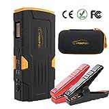 Starthilfe Powerbank 800A 18000mAh Auto Starthilfe Power Pack Jump Starter Autobatterie Anlasser mit LCD Display und LED Taschenlampe für Smartphone, Tablet