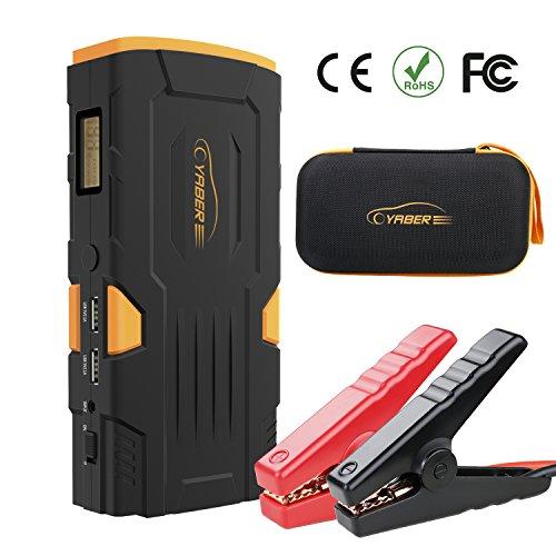 Preisvergleich Produktbild Starthilfe Powerbank 800A 18000mAh Auto Starthilfe Power Pack Jump Starter Autobatterie Anlasser mit LCD Display und LED Taschenlampe für Smartphone, Tablet
