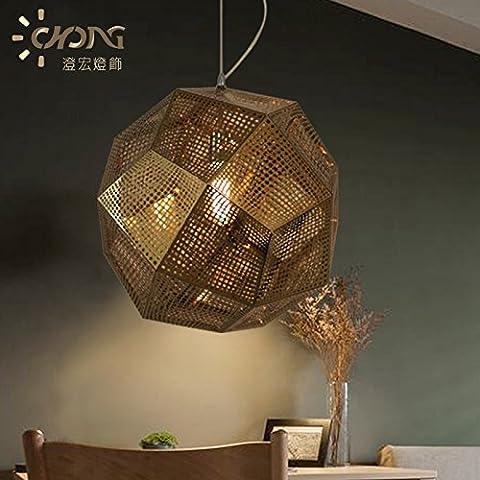 Ancernow E27 caldo creativo moda lampade a sospensione Lampadari Metallo Acciaio inossidabile 32cm-rose gold#12-2247
