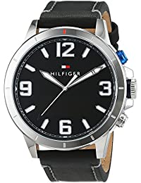 Tommy Hilfiger Herren-Smartwatch Casual Sport Analog - Digital Quarz Leder 1791298