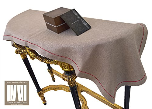 Centro grande per tavolo cucina centrotavolo centrotavola sala da pranzo runner guida in puro lino grezzo italiano