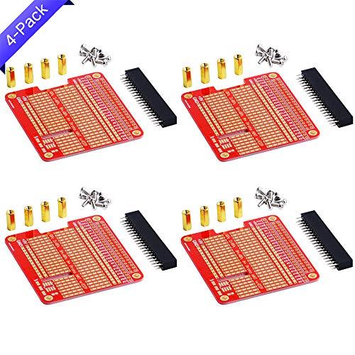 GeeekPi 4x Prototype Breakout DIY Breadboard PCB Shield Board Kit für Raspberry Pi 3 2 B+ A+