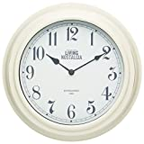 Kitchen Craft 25,5 cm, Living Nostalgia innen Wall Clock, Antique Cream