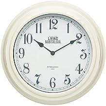 Kitchen Craft 25,5 cm Living Nostalgia Reloj de Pared para Interiores, Beige