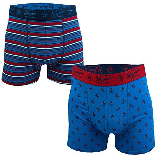 mens-original-penguin-mens-2-pack-stripe-boxer-shorts-in-blue-red-xl