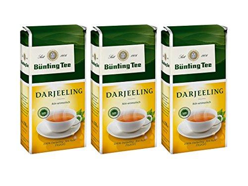 Bünting Tee Darjeeling, 250g loser Tee 3er Pack