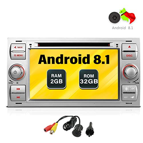 Freeauto para Ford Focus II (2005-2007) (2005-2007), C-Max S-Max (2006-2011) Android 7.1 Quad...