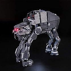 BRIKSMAX Kit de LED pour Lego Star Wars First Order Heavy Assault Walker,Compatible avec la Maquette Lego 75189, La Maquette de Construction n'est Pas Incluse