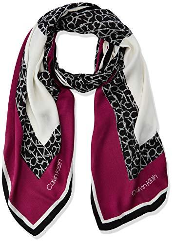 Calvin Klein Damen GEO Quilt Scarf Schal, Violett (Magenta 510), One Size (Herstellergröße: OS)