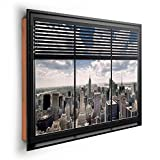 REINDERS New York - Fenster Lamellen - Wandbild 90 x 60 cm