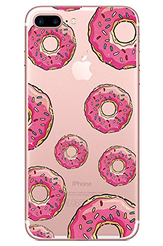 SevenPanda iPhone 7 Plus Hülle Transparent, Kreativ Essen Weiche TPU Rahmen mit Rückdeckel Schutzhülle TPU Case Hülle Silicone Schutz Handyhülle Tasche Etui für iPhone 7 Plus 5.5