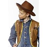 Cesar - H025-001 - Dguisement - Chapeau Feutre - Cowboy - Marron