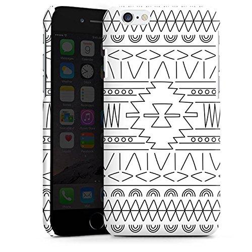Apple iPhone 5s Housse Outdoor Étui militaire Coque Noir et blanc Ethnique Motif Cas Premium brillant