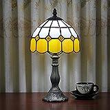 8-Inch Mittelmeer Tiffany Stil Bernstein Tischlampe Nachttischlampe (4 Farben für wählen)