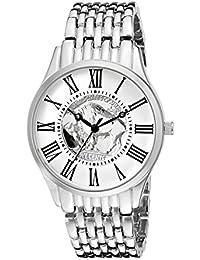 August Steiner Reloj de hombre de cuarzo con Esfera Plateada Pantalla Analógica y aleación de plata pulsera cn009ss