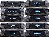 Ps4 Lightbar Sticker Set 10 Stück für Playstation 4 Aufkleber Stickers für Ps4 Light Bar Schwarz Matt Ps4 Controller Sticker