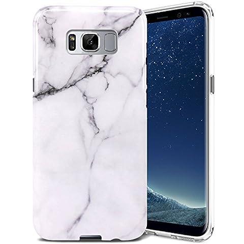 Coque Samsung Galaxy S8 Plus, ZUSLAB Motif Marbre Silicone TPU Housse de Protection Fine Flexible Anti-choc Etui Case [Marbre Blanc]