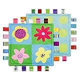 Danolt Baby Sicherheitsdecken Comfort Plüsch Decke Spielzeug mit bunten Mustern Tag Geschenk für Baby-Dusche Neugeborene Mädchen Jungen Geburtstag.