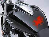 Dragón de Gales Moto Depósito de combustible Coche Adhesivo 100mm x 65mm, color rojo