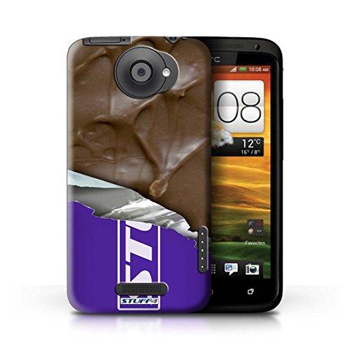 Kobalt® Imprimé Etui / Coque pour HTC One X / Galaxy Vague conception / Série Chocolat Mars Bar Enveloppé