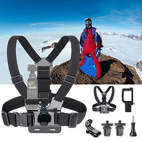 MMLC Chest Mount Harness for DJI OSMO Pocket - Adjustable Body Strap Rig Einstellbarer Brustgurt Halterung (A) Chest Mount Harness
