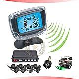 LCD 4X Sensor Auto coche marcha atrás Sistema de Park Sensores de ayuda para aparcar con visión