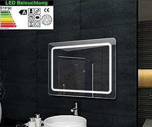 badspiegel led beleuchtung 60 x 80 cm. Black Bedroom Furniture Sets. Home Design Ideas