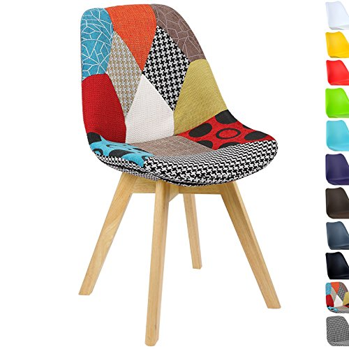 51 Pk3Iag6L. SS500  - WOLTU® BH29mf-1 1 x Dining Chair Retro Kitchen Chair Patchwork Linen Dining Chair, Multicolored