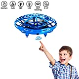 wishing Mini UFO Drone , Mini Quadcopter Movimiento Control Nano Drone Flying Toys Recargable con Led Light Beginner Helicóptero Regalos para Niños Niños Adultos