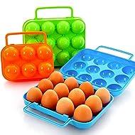 Generic 12huevos Mold: Portable 6/12Huevos Molde plástico alimentos cken bin caja de almacenamiento de huevo Holder cesta portátil huevo cesta transportadora de contenedor caso