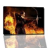 Dark hunger games catching fire Bild auf Leinwand -- 60x40 cmfertig gerahmte Kunstdruckbilder als Wandbild - Billiger als Ölbild oder Gemälde - KEIN Poster oder Plakat