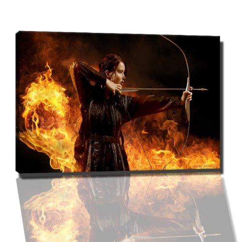 hunger games catching fire Bild auf Leinwand -- 120x80 cm fertig gerahmte Kunstdruckbilder als Wandbild - Billiger als Ölbild oder Gemälde - KEIN Poster oder Plakat