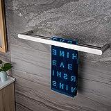 ZUNTO Handtuchhalter 60cm Chrom Doppelt Stange Bad Handtuchstange Wand Badetuchhalter Edelstahl Poliert