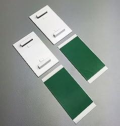 KLEMMFLEX Klebehalter - Farbe: weiss - 1 Paar (2 Stück) - selbstklebend für Minirollos / Duo-Rollos / Rollos - Montage OHNE BOHREN auf dem Fensterrahmen / Fensterflügel
