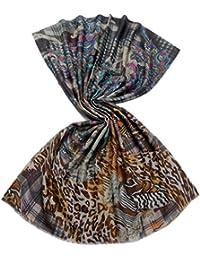 CODELLO Damen Schal Schur-Wolle Accessoire Gemustert, Größe: Onesize, Farbe: Multicolor