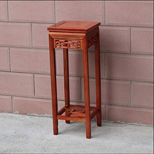 NMDD Blumenrahmen Massivholz Wohnzimmer Chinesischen Stil Antike Möbel mehrschichtige Boden Nachahmung Mahagoni Platz Bonsai Regal (Farbe: D, Größe: M)