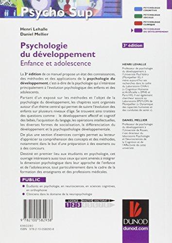 Psychologie du développement - 3e éd. - Enfance et adolescence
