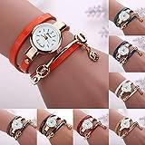LSAltd 2019heiße Damen Armbanduhr Blumen Damen Retro Armbanduhr Leder Damen Elegant Armbanduhr