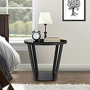 lifewit table ronde bout de canap table de nuit table. Black Bedroom Furniture Sets. Home Design Ideas