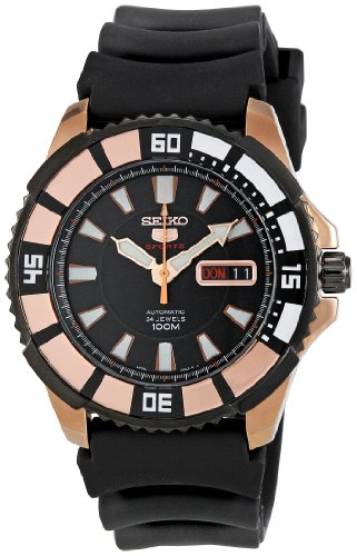Seiko Herren-Armbanduhr XL Analog Automatik Kautschuk SRP210